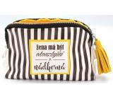 Nekupto Buď Jedinečná kosmetická taška Pruhy 20 x 11,5 x 5 cm