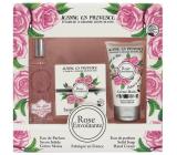Jeanne en Provence Rose Envoutante - Podmanivá růže parfémová voda pro ženy 60 ml + tuhé toaletní mýdlo mýdlo 100 g + krém na ruce 75 g kosmetická sada