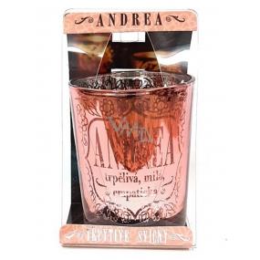 Albi Třpytivý svícen ze skla na čajovou svíčku ANDREA, 7 cm