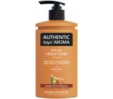 Authentic Toya Aroma Ginger & Lemongrass tekuté mýdlo dávkovač 400 ml