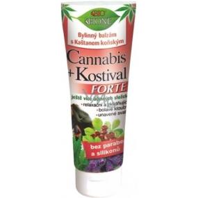 Bione Cosmetics Cannabis + Kostival Forte bylinný balzám s kaštanem koňským 200 ml
