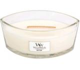 WoodWick White Teak - Bílý teak vonná svíčka s dřevěným širokým knotem a víčkem loď 453 g