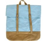 Albi Eko batoh s popruhy vyrobený z pratelného papíru Modrý 38 x 36 x 9 cm