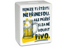 Albi Pokladnička keramická cihlička Pivo 10 cm x 11,8 cm x 5 cm