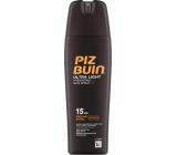 Piz Buin Ultra Light SPF15 ultra lehký hydratační fluid na opalování 200 ml sprej