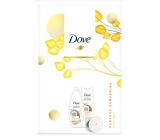 Dove Nourishing Secrets Pečující Rituál Kokos sprchový gel 250 ml + tělové mléko 250 ml + zrcátko, kosmetická sada