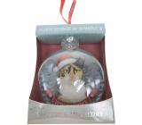 Albi Skleněná vánoční ozdobička se zvířátky - Tříbarevná kočka 7,5 cm x 8 cm x 3,6 cm