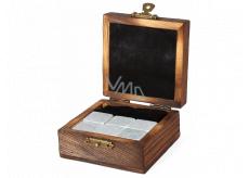 Albi Chladící kameny do Whisky, 6 chladících kamenů v dárkovém dřevěném boxu