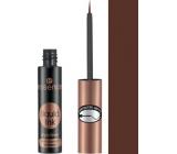 Essence Liquid Ink Eyeliner Waterproof Brown voděodolné inkoustové oční linky 02 Ash Brown 3 ml