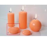 Lima Reflex fosforově oranžová svíčka plovoucí čočka 30 x 70 mm 1 kus
