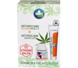 Annabis Arthrocann Collagen Omega 3-6 Forte doplněk stravy 60 tablet + Annabis Arthrocann konopný gel s koloidním stříbrem na klouby, šlachy svaly a záda 75 ml, dárková sada