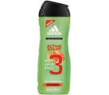 Adidas 3 Active Start sprchový gel na tělo a vlasy pro muže 400 ml