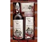 Bohemia Vinná kosmetika Wine Spa červené Hroznový olej a extrakt z vinné révy vlasový šampon 250 ml + olejová lázeň 500 ml + toaletní mýdlo 70 g, kosmetická sada