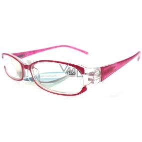 Berkeley Čtecí dioptrické brýle +3,5 červené zlaté čárky CB02 1 kus MC2089