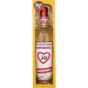 Bohemia Chardonnay Vše nejlepší 20 bílé dárkové víno 750 ml