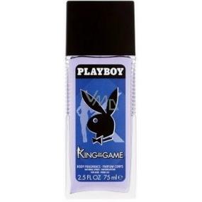 Playboy King of The Game parfémovaný deodorant sklo pro muže 75 ml