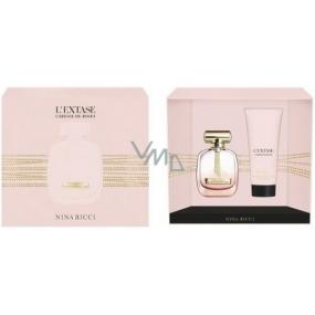 Nina Ricci L Extase Caresse de Roses Eau de Parfum Légére parfémovaná voda pro ženy 80 ml + tělové mléko 200 ml, dárková sada