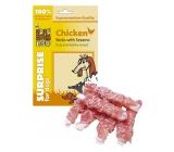 Huhubamboo Kuřecí tyčinky se sezamem přírodní masová pochoutka pro psy 75 g