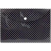 Albi Pouzdro na dokumenty Černé s puntíky B6 - 17 x 12,5 cm