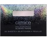 Catrice Dazzle Bomb papírová tvářenka Holographic C01 Champagne Shower 30 kusů