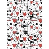 Albi Pouzdro na dokumety Kočky se srdíčky A6 - 15,5 x 11,2 cm