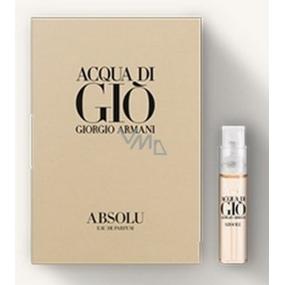 Giorgio Armani Acqua di Gio Absolu parfémovaná voda pro muže 1,2 ml s rozprašovačem, vialka