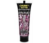 Diva & Nice Chunky Glitter Holographic UV ozdobný gel na tělo a obličej Purple Haze - fialovo růžový 13 ml