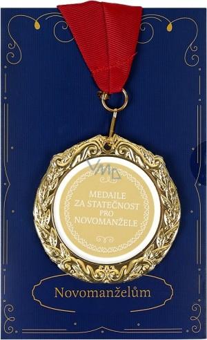 Albi Papírové přání do obálky Přání s medailí - Novomanželům W