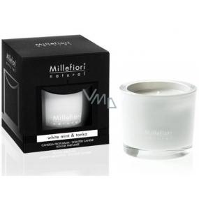 Millefiori Natural White Mint & Tonka - Bílá máta a tonkové boby Vonná svíčka hoří až 60 hodin 180 g