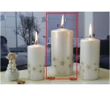 Lima Starlight svíčka bílá/zlatá válec 70 x 150 mm 1 kus