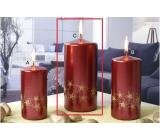 Lima Starlight svíčka zlatá/červená 70 x 150 mm