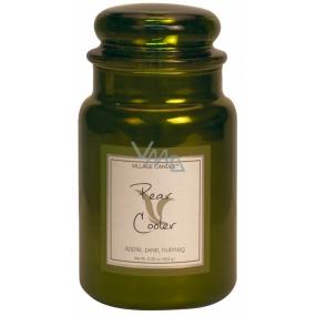 Village Candle Hruškové osvěžení - Pear Cooler vonná svíčka ve skle 2 knoty 602 g