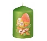 Vajíčka velikonoční svíčka metal mat zelená válec 55 x 80 mm