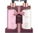 Baylis & Harding Půlnoční švestka a Divoká ostružina tekuté mýdlo na ruce 300 ml + mléko na ruce a tělo 300 ml, kosmetická sada