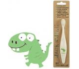 Jack N Jill BIO Dino extra měkký zubní kartáček pro děti, rozložitelný v přírodě, vyrobený z kukuřičného škrobu, bez BPA a PVC