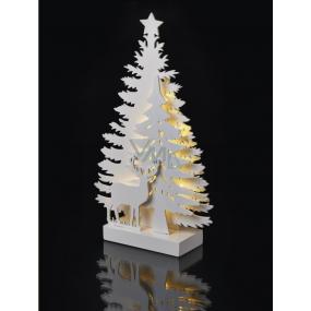 Emos Dekorace les a jelen na postavení 35 x 20,5 cm - 15 LED teplá bílá + časovač