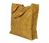 Albi Eko taška vyrobená z pratelného papíru skládací - žlutá 37 cm x 37 cm x 9,5 cm