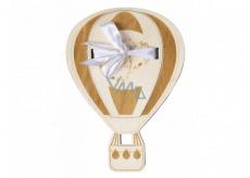 Albi Dřevěná kapsa na peníze Balon 13,2 x 18 x 0,6 cm