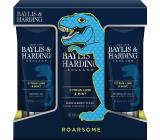 Baylis & Harding Men Citrus, Limetka a Máta mycí gel na tělo a vlasy 300 ml + balzám po holení 200 ml + sprchový gel 200 ml, kosmetická sada