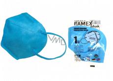 Famex Respirátor ústní ochranný 5-vrstvý FFP2 obličejová maska modrá 1 kus