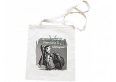 Bohemia Gifts Plátěná taška s potiskem Pomůžu ti s nákupem 42 x 38 cm