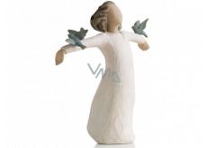 Willow Tree - Anděl radost - Volnost ke zpěvu, smíchu a tanci Figurka anděla Willow Tree, výška 13,5 cm