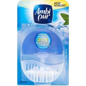 Ambi Pur Fresh & Shine 2v1 Fresh Water & Mint toaletní blok 55 ml