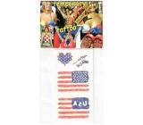 Arch Tetovací obtisky na obličej i tělo USA, Americká vlajka 2 motiv