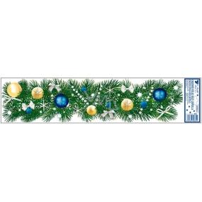 Room Decor Okenní fólie bez lepidla ozdobené větvičky modré 64 x 15 cm