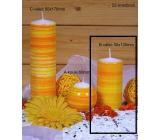Lima Twist svíčka oranžová válec 50 x 100 mm 1 kus