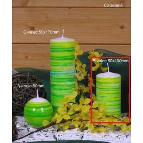 Lima Twist svíčka zelená válec 50 x 100 mm 1 kus