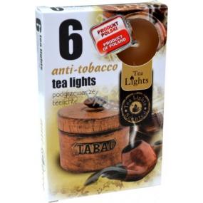 Tea Lights Anti-tobacco s vůní antitabáku vonné čajové svíčky 6 kusů