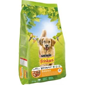 Purina Friskies Balance s rýží, kuřecím masem a mrkví pro dospělé psy 15 kg