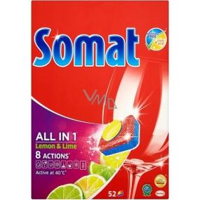 Somat All in 1 Lemon & Lime tablety do myčky na nádobí 52 kusů 936 g